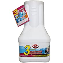 11502-Dosificador 3 acciones acción lenta: Desinfectante, Estabilizador de Cloro, Algicida y Floculante. Dosificación automática. Bote 2 Kg