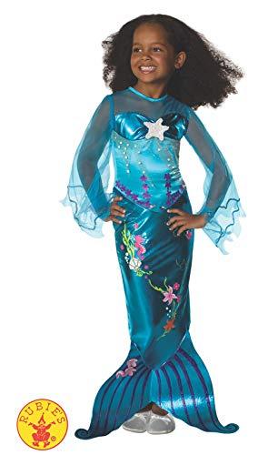 Kleinkind Meerjungfrau Kostüm Mädchen - Rubie's 2 882718 S - Kinder Kostüm Magische Meerjungfrau  Nixe blau Gr. S (3-4 J.)