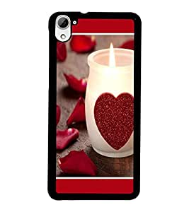 PrintDhaba Love D-1342 Back Case Cover for HTC DESIRE 826 (Multi-Coloured)