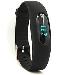YAMAY® Sport Smart Armband Schrittzähler Uhr Fitness Tracker Aktivitätstracker mit Zeit