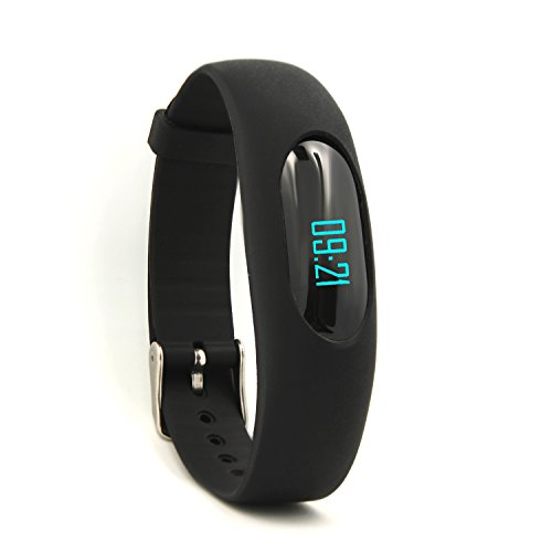41oshsaeQwL - BEST BUY #1 Non-Bluetooth Fitness Tracker Pedometer Bracelet Silicone Wristband with Calorie Counter Walking Distance Step Counter Sleep Monitor Time / Date Display for Outdoor Running Walking (Black) Reviews and price compare uk