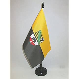 AZ FLAG TISCHFLAGGE Sachsen-Anhalt 21x14cm - Sachsen-Anhalt TISCHFAHNE 14 x 21 cm - flaggen