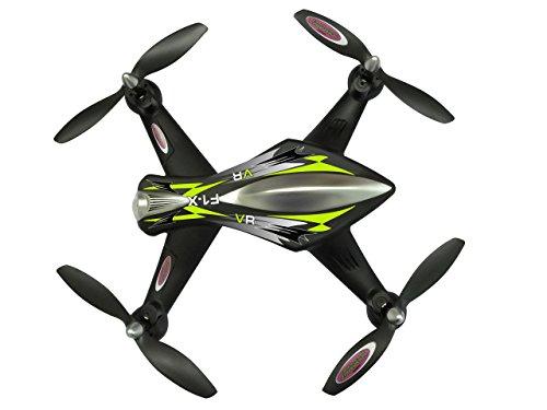 Jamara 422021 - F1X VR Altitude FPV Wifi Kompass Flyback - Race Drone, inklusiv VR-Brille, über Sender und App steuern, 3 Geschwindigkeiten, 40 KM/h, Höhenkontrolle (Barometer) und Rückflugautomatik - 9