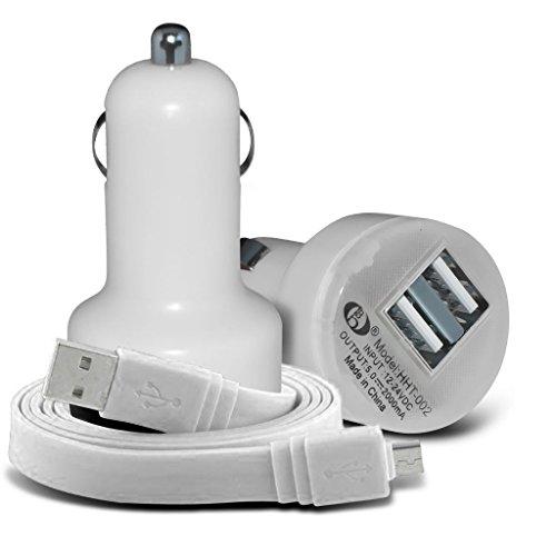 Fone-Case (White) Verykool Maverick III JR S5524 High Quality 3,5 mm Klinke, um Jack Flachkabel AUX AUX-Audiokabel führen Jack White Iii