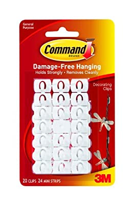 Command Christmas and Fairy Light Decoration Clips - low-cost UK wall light store.