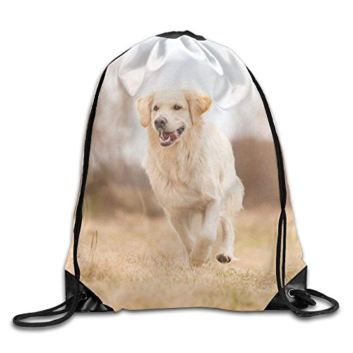Etryrt Prämie Turnbeutel/Sportbeutel, Golden Retriever Drawstring Backpack Rucksack Shoulder Bags Training Gym Sack for Man and Women -
