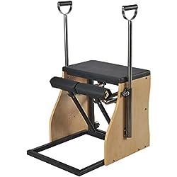 ELINA PILATES. Combo Chair_Base Acero – Silla de Pilates, complemento Ideal para los Estudios de Pilates. Material Estabilidad.