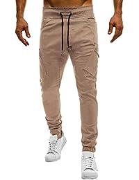 66fac78e1395 Longra Designer Chino Hose Herren Jeans Lang Chino Jogg Freizeithose  Jogginghose Mode Marken Stretch Stoff Hose