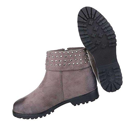 Damen Boots Stiefeletten Schuhe Mit Strass Schwarz Camel Braun 36 37 38 39 40 41 Braun
