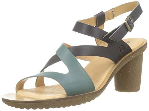 El Naturalista N5157 VAQUETILLA Trivia, Zapatos de tacón con Punta Abierta para Mujer, Negro Black...