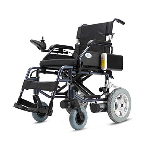 DLY Älterer Behinderter Elektrischer Rollstuhl Faltbarer Intelligenter Ultra Beweglicher Lithium-Akku Langlebiger Motorisierter Rollstuhl Doppelmotor Hohe Leistung für Behinderte Ältere Menschen -