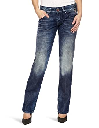 Replay Newswenfani Relaxed Women's Jeans Vintage Dark Blue/Dirty Tinting W32INxL32IN