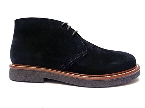 Antica Cuoieria scarpe casual da uomo in camoscio Blu fondo in para, n. 43