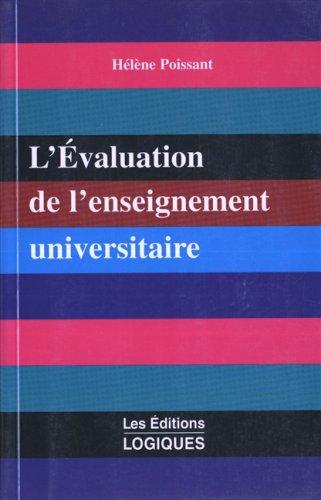 L'évaluation de l'enseignement universitaire