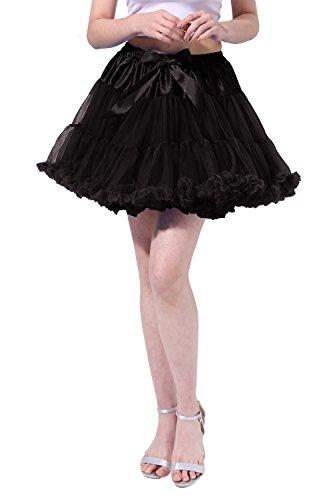 Poplarboy Damen Kurz Tüll Vintage Petticoat Reifrock Mehrfarbengroß Unterröcke Braut Crinoline Ballett Blase Tutu Ball Kleid Underskirt S-M (Burlesque Ideen Outfit)