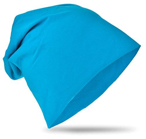 Miobo KBM-Unifarbe-Lichtblau-L (Erwachsenen-kind-beanies)