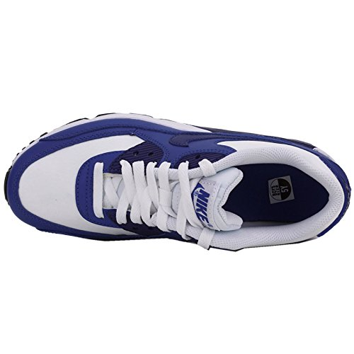 Nike Air Max 90 Leather 833412-402 Turnschuhe white-deep royal blue-gym royal-black (833412-105)