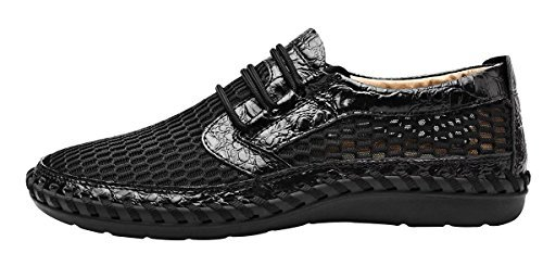 b18a9c59551e6 LOUECHY Men's Notus Mesh Breathable Walking Loafers Casual Hiking Shoes  8701-46 Black