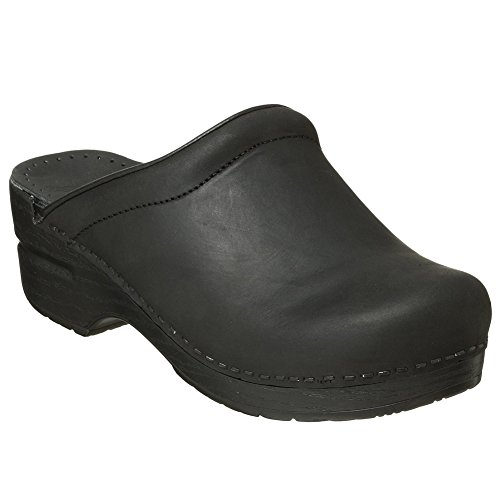 Dansko Sonja Women Mules and Clogs Shoes, BlackOiled, Size - 41