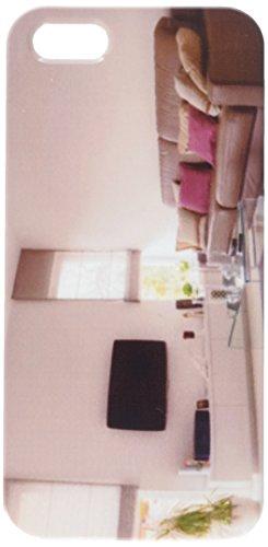 Weiß Wohnzimmer mit Leder Taupe Sofa Handy Schutzhülle iPhone5 -