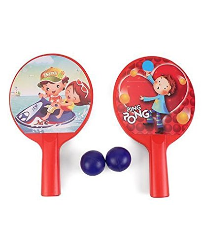 Ratna's Sporty Indoor Fun Time Table Tennis Set For Kids(plastic) Let The Journey To Become Champion Begin (red)