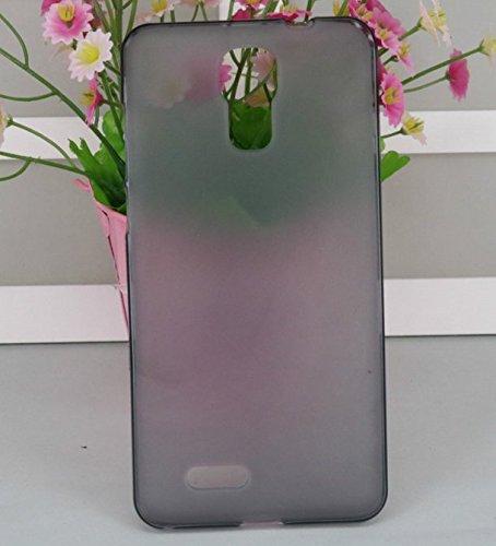 PREVOA ® 丨Transparent Silikon Hülle Cover Case Schutzhülle Tasche für Cubot Z100 pro 5,0 Zoll Smartphone - (Grau)