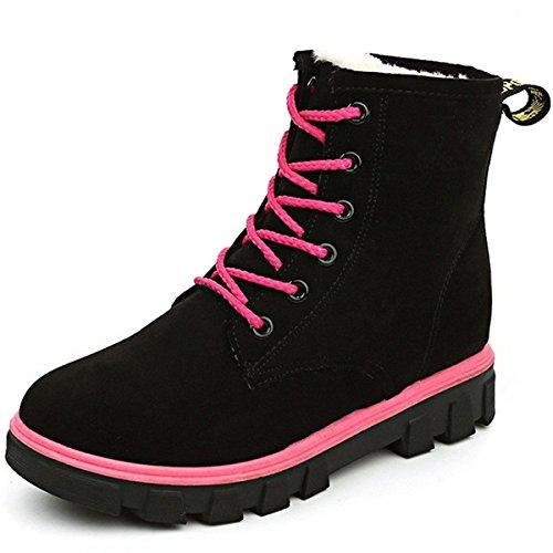 Eagsouni Worker Boots Damen Gefüttert Stiefeletten Winter Kurz Schnür Martin Stiefel Schuhe Warm Derby Combat Boots (All-wetter-stiefel Frauen)