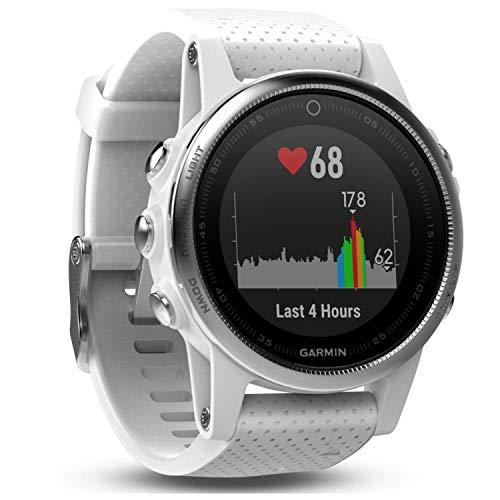 Garmin fēnix 5S GPS-Multisport-Smartwatch - Herzfrequenzmessung am Handgelenk, Sport- & Navigationsfunktionen (Gps-navigation Weiß)