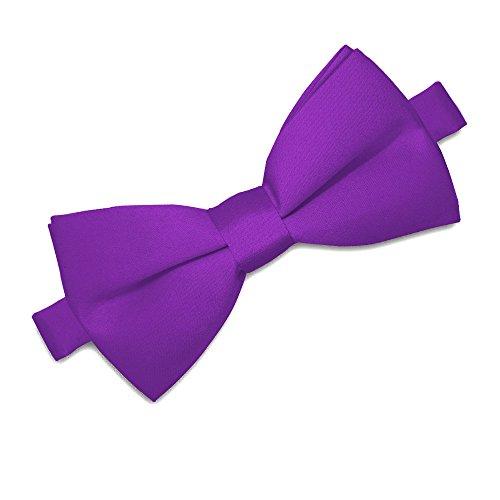 Soul-Cats® Kinder Fliege vorgebunden verstellbar Hochzeit Kommunion Jugendweihe , Farbe:lila