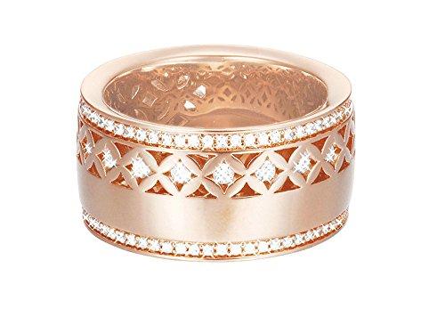 ESPRIT Damen-Ring JW50220 Rose teilvergoldet Zirkonia weiß Gr. 57 (18.1) - ESRG02270C180