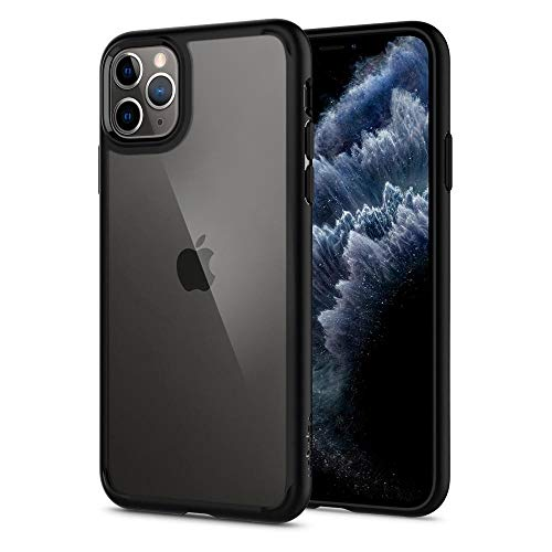 Spigen Ultra Hybrid Funda para iPhone 11 Pro MAX, Compatible con Apple iPhone 11 Pro MAX (6.5') 2019 - Negro Mate