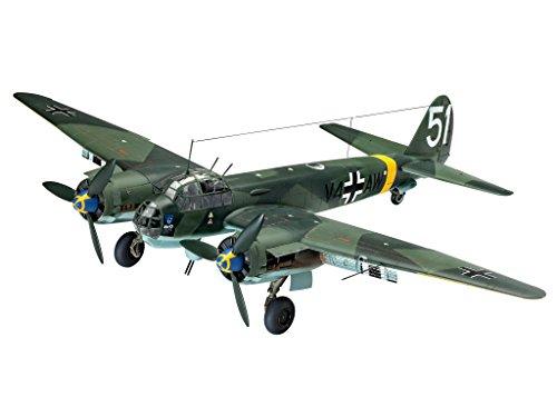 Revell Modellbausatz Flugzeug 1:48 - Junkers Ju88 A-4 im Maßstab 1:48, Level 4, originalgetreue Nachbildung mit vielen Details, 03935