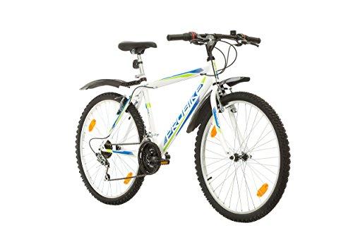Coollook PROBIKE 26 Zoll Fahrrad Felge Mountainbike MTB Weiss Glanz Starren Rahmen Fahrradherren Rad Bike Cycling, Rahmen 51 cm, 18-GANG EU-PRODUKT (Weiß+Kotflügel)