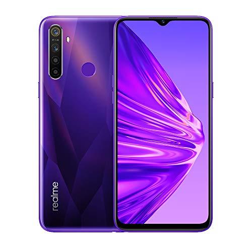 realme 5 smartphone 6.5 ips, 4 gb ram / 128 gb rom, processore octa-core, camera 13 mp, quad-camera 12/8/2/2 mp, viola