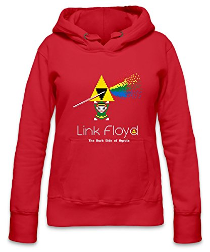 Link Floyd The Dark Side Of Hyrule Womens Hoodie Large - Dark Side Vintage-t-shirt
