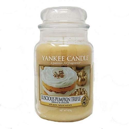 YANKEE CANDLE Luscious Pumpkin Trifle Kerze, Glass, Orange, XL -