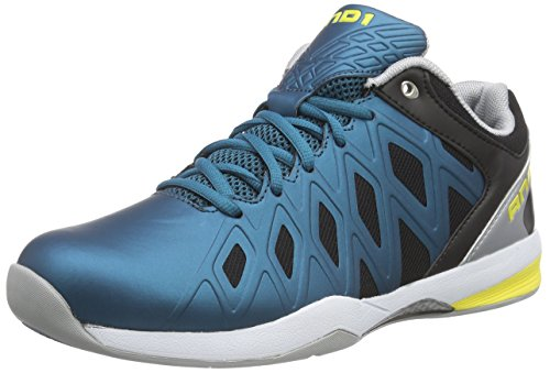 AND1 Herren Unbreakable Low Basketballschuhe Blau (Blue Coral/Black-Blazing Yello) 45 EU