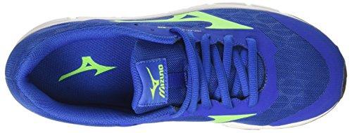 Mizuno Kinder-Unisex Synchro Jnr Joggingschuhe Multicolore (NauticalBlue/GreenGecko/BlueDepths)