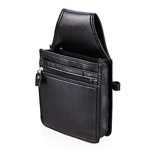 SWISSONA Kellnertasche in schwarz | Kellner Geldbörse, Kellnerhalfter, Kellnerholster