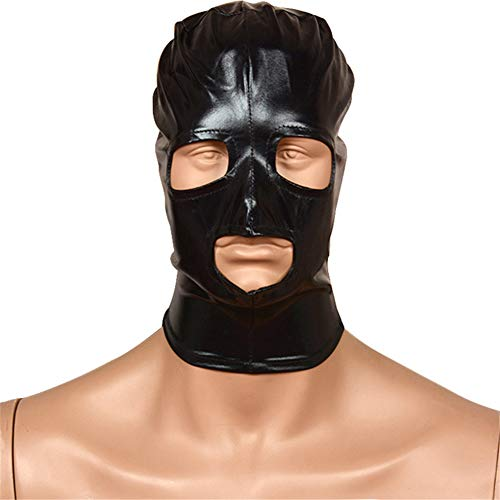 Sexy Spandex Breathable Full Head, Starke elastische Spandexmaske Haube mit offenen Augen und Mundloch Cosplay Kostüm Gesicht Haube Maske ()