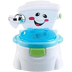 Ztoma Bebé Orinal de Aprendizaje, Plástico Seguridad Bebé Potty Training Asiento, Multifunción Ecológico Taburete - Azul