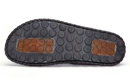 SHIXR Hommes Open Back Pantoufles Nouveaux Personnages Drag Men Mode Trend Loisirs Cool Chaussons Sandales Multi-Fonctionnelles Eté Bleu Khaki Marron Blue