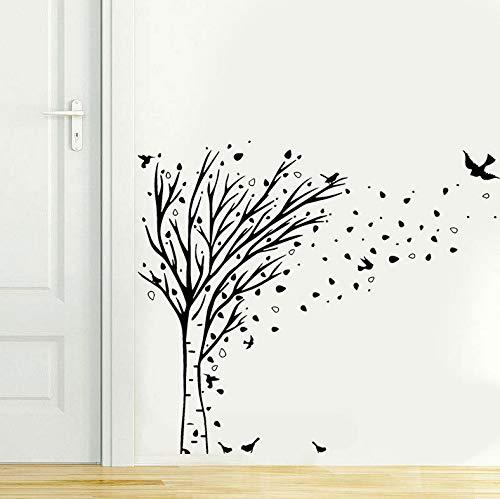 (Wiwhy Neue Ankunft Ast Birds Wand Stickewohnzimmer Kinderzimmer Vinyl Home Removable Interioration Wandbild 66X57 Cm)