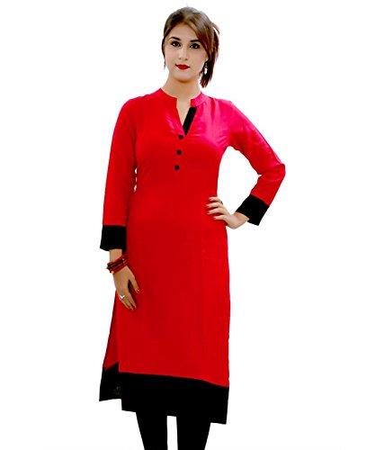 Sky Global Women's Red Kurti (SKY_Kurti_7017)