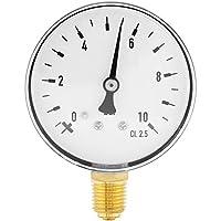 Manómetro de presión NPT de 1/4 pulg. Medidor de presión de agua de aceite de aire Manómetro de montaje lateral 0-10 Bar