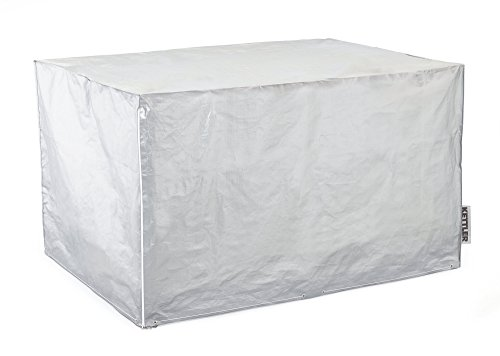 KETTLER Advantage Möbelsets Abdeckhaube für Sitzgruppe Tisch 140 x 95 cm und 4 Multipositionssessel geklappt, grau