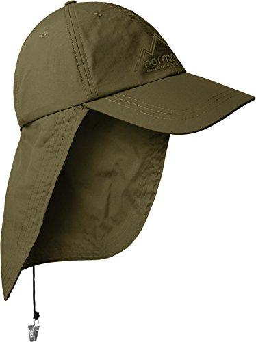 Safari Cap mit extra langem Nackenschutz Farbe Olive