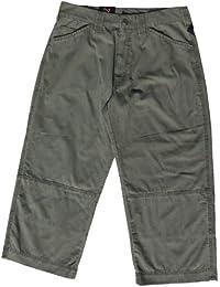 3/4 Hose von Fifty Five | Gr. 32 inch | kurze Hose in olive | sommerlicher Stoff