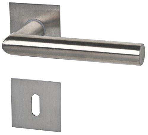Alpertec Türbeschlag Piato - R eckig Edestahlfarbig für Zimmertüren Drückergarnitur Türdrücker Türbeschläge, 32846003