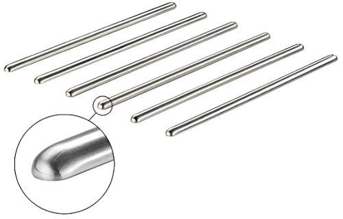 Gedotec Design Schutzstäbe Topf-Untersetzer hitzebeständig 6-teilig aus Metall | Länge 450 mm | Edelstahl Finish | selbstklebend | Pfannen-Untersetzer für Küchen-Arbeitsplatten uvm. | 6 Stück